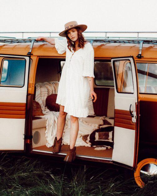 Biała boho sukienka Freedom