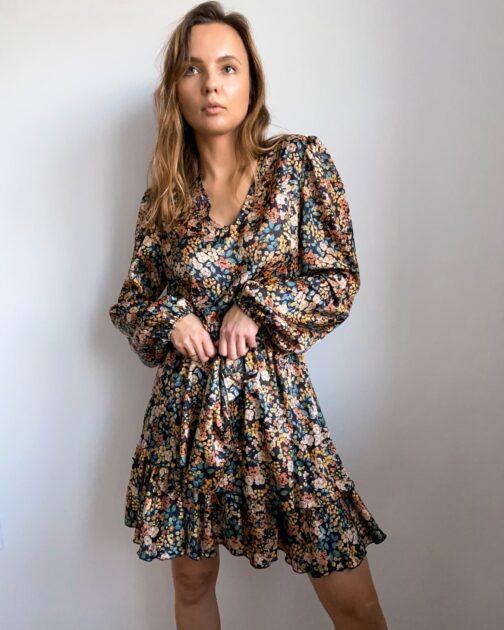 Sukienka w jesienne kwiaty Autumn Garden