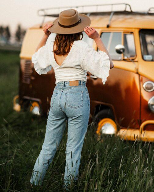 Wiązany damski top boho Hippie Soul