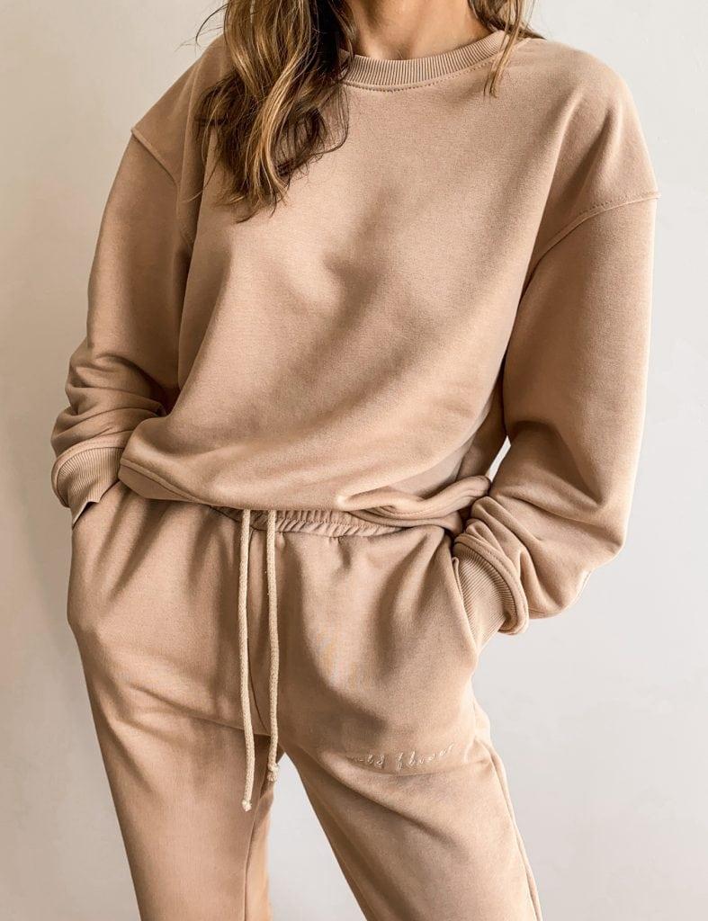 bluza damska oversize beżowa
