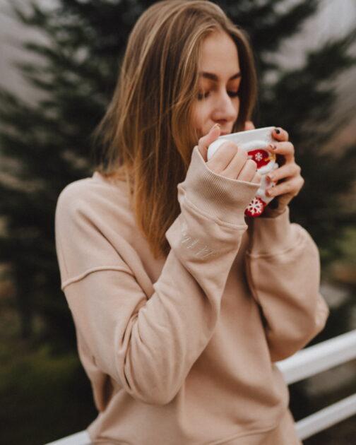 Damska bluza beżowa Caffe Latte