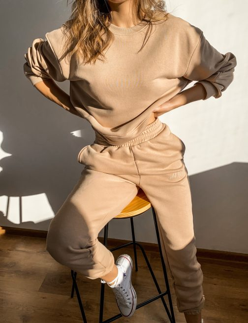 beżowa bluza damska komplet
