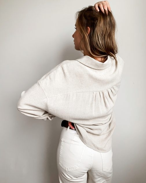Koszula damska beżowa lniana Sand Shell